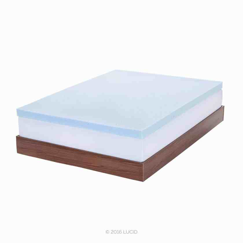 6. LUCID 3 Inch Ventilated Memory Foam Mattress Topper