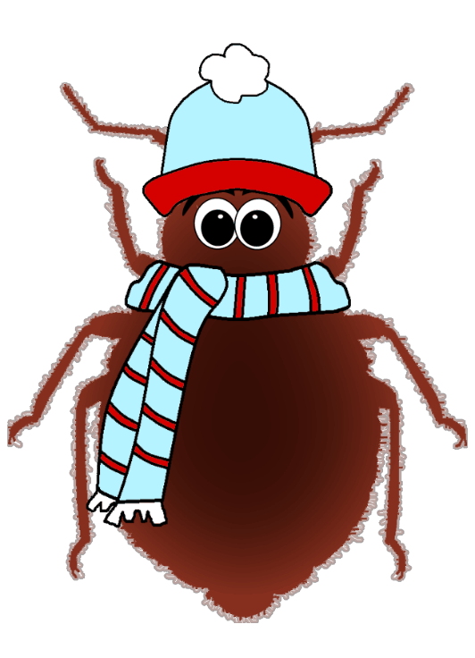 Expelling bed bugs through temperature conditioning