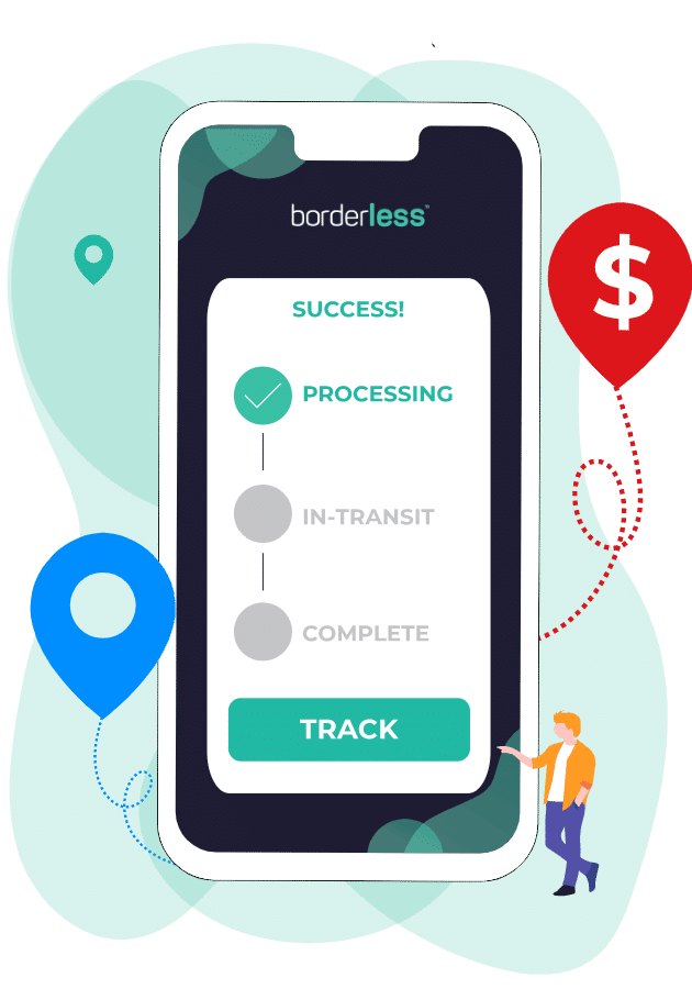 Track your payment using borderless. Peace of mind.
