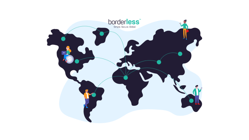 global map showing how borderless connects bank networks around the world