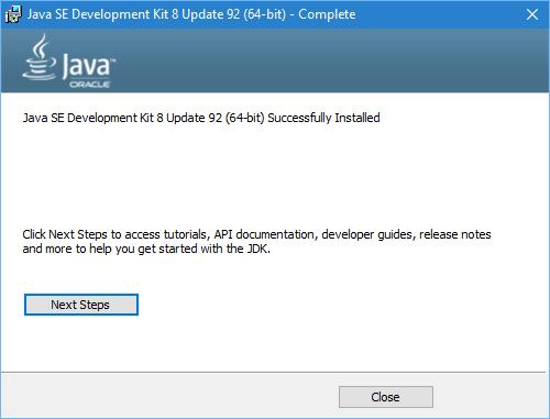JDK - Installeur - Etape 6