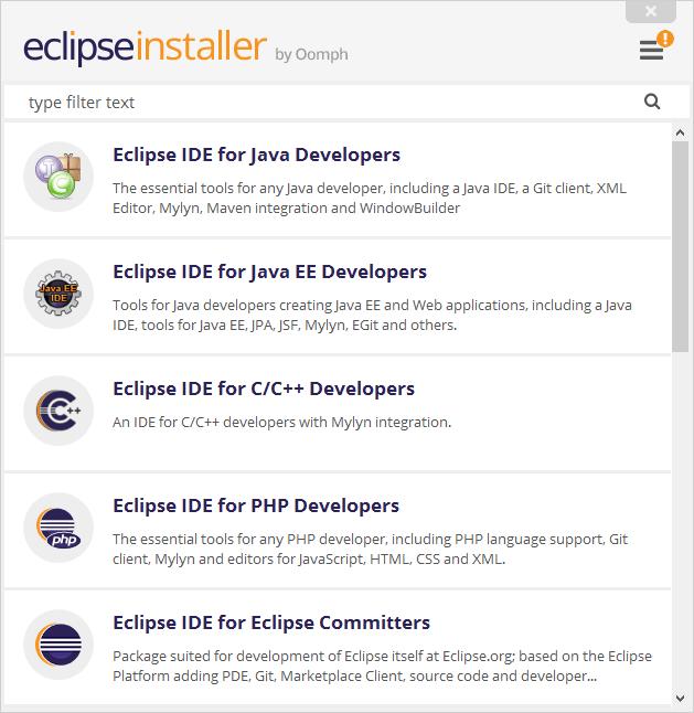 Eclipse - Installeur - Etape 2