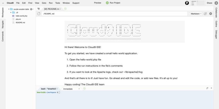 Laravel on Cloud9