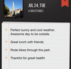 Gratitude 365 app for the iPhone