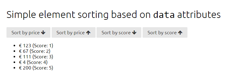 jQuery Element Sorting