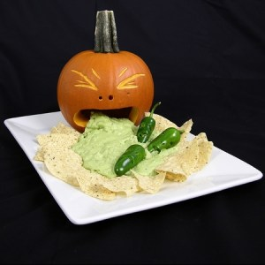 guacamole, puking pumpkin, pumpkin carving, halloween