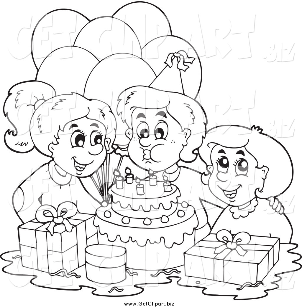 Happy Birthday Black And White Clipart Panda Free Clipart