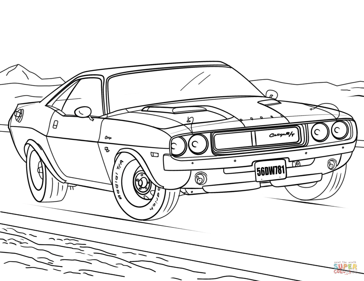 Dodge Charger Coloring Pages At Getcolorings