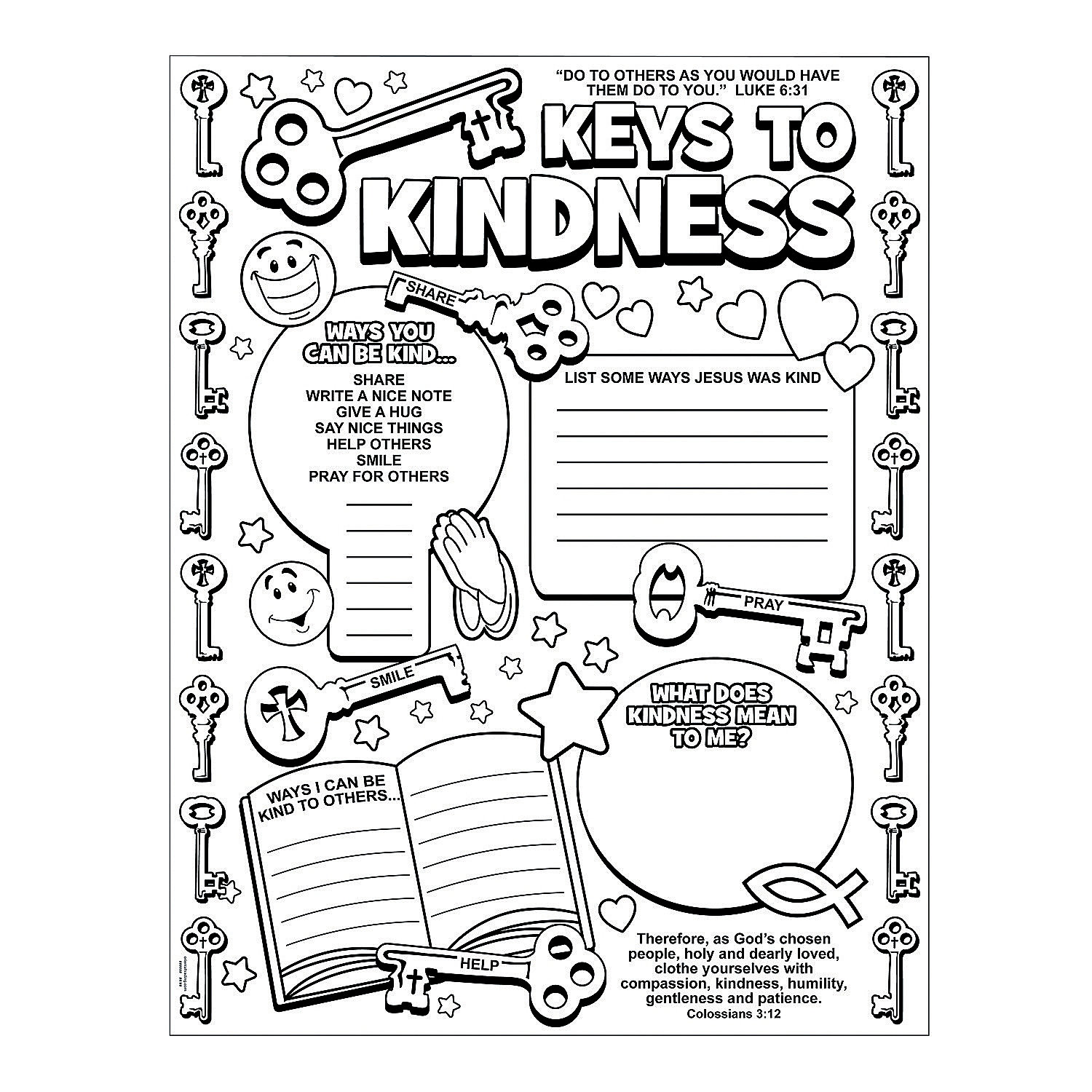Acts Of Kindness Coloring Pages At Getcolorings