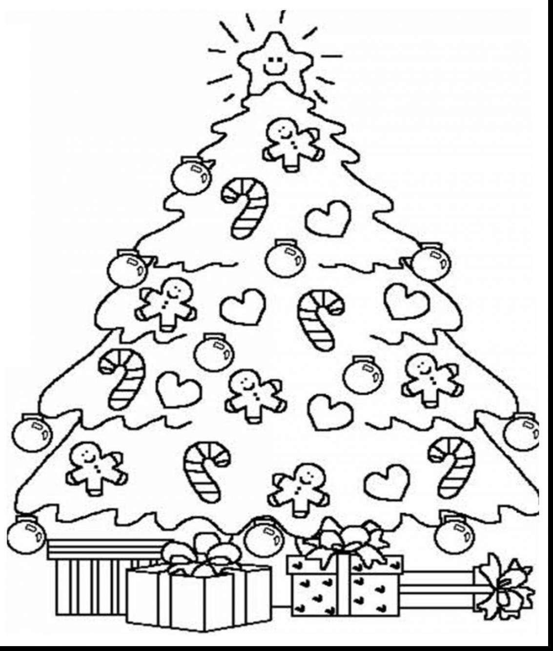 Adult Christmas Tree Coloring Pages At Getcolorings