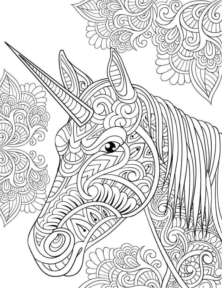 Adult Coloring Pages Unicorn at GetColorings.com   Free ...   free printable coloring pages for adults unicorns