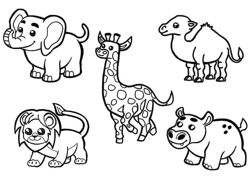African Safari Animals Coloring Pages at GetColorings.com ...   free printable coloring pages safari animals