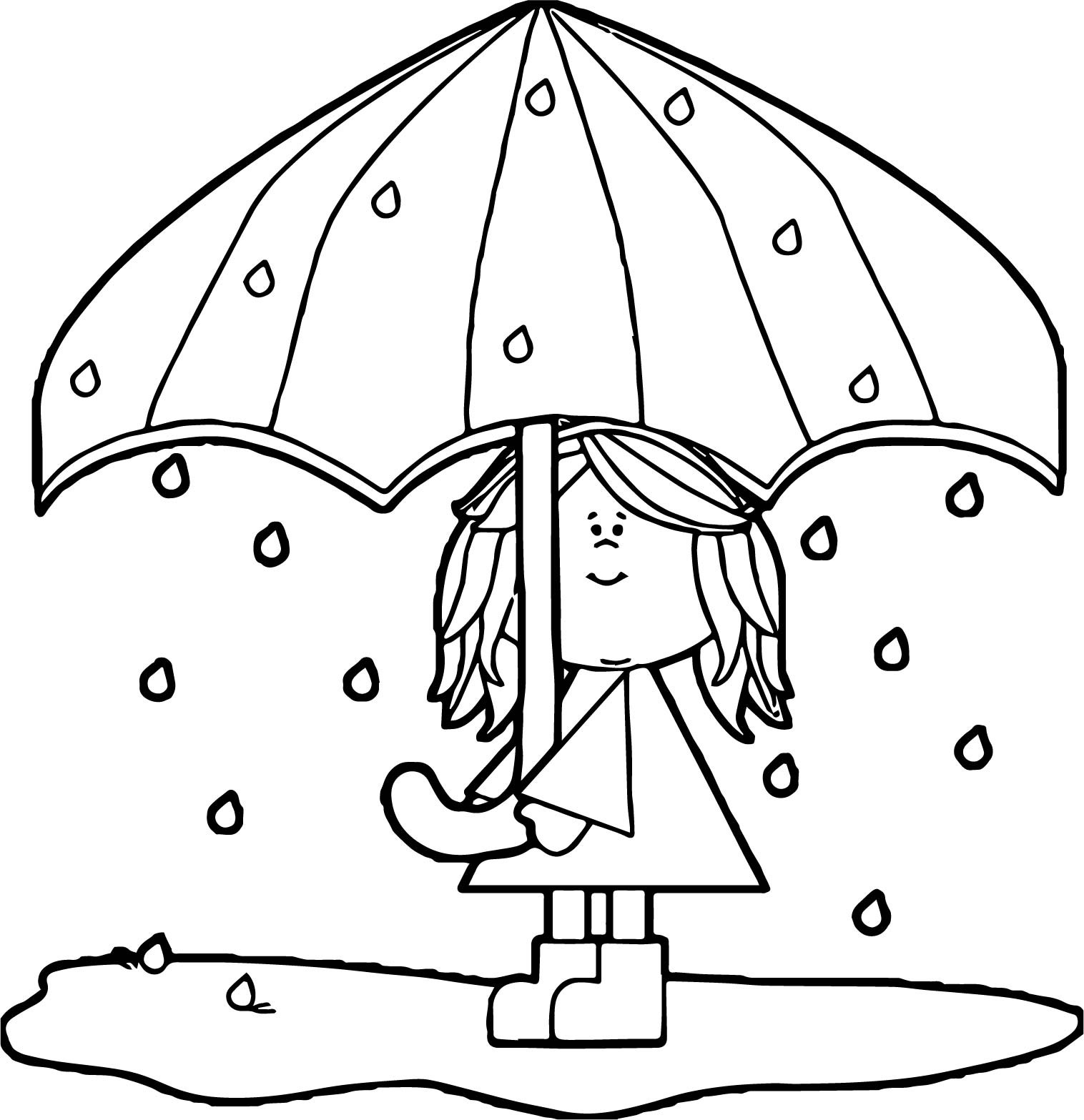 April Showers Bring May Flowers Coloring Page At