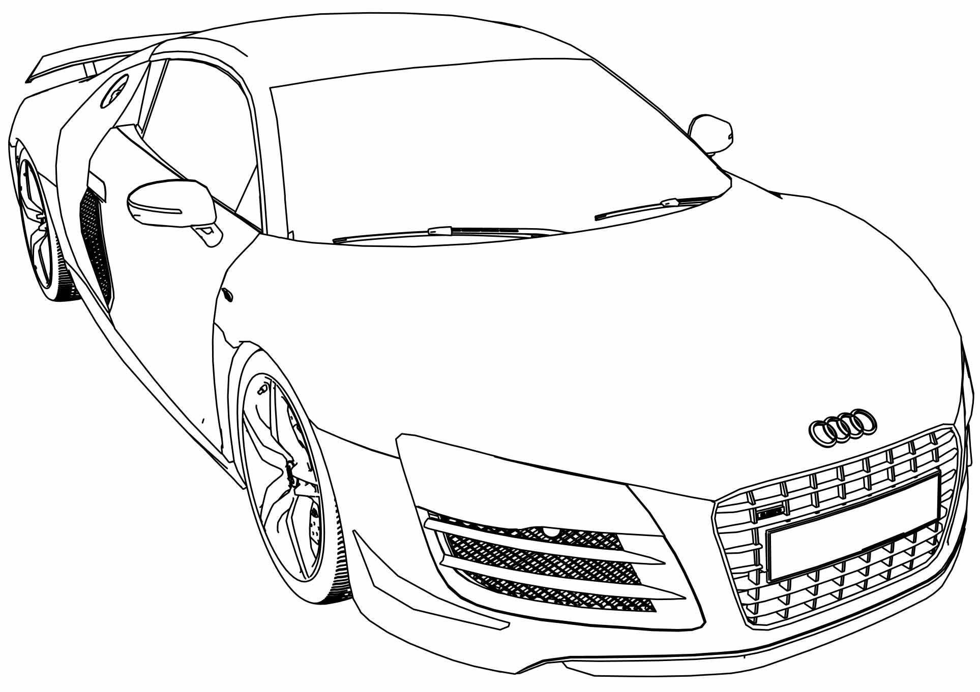 Audi R8 Coloring Pages At Getcolorings