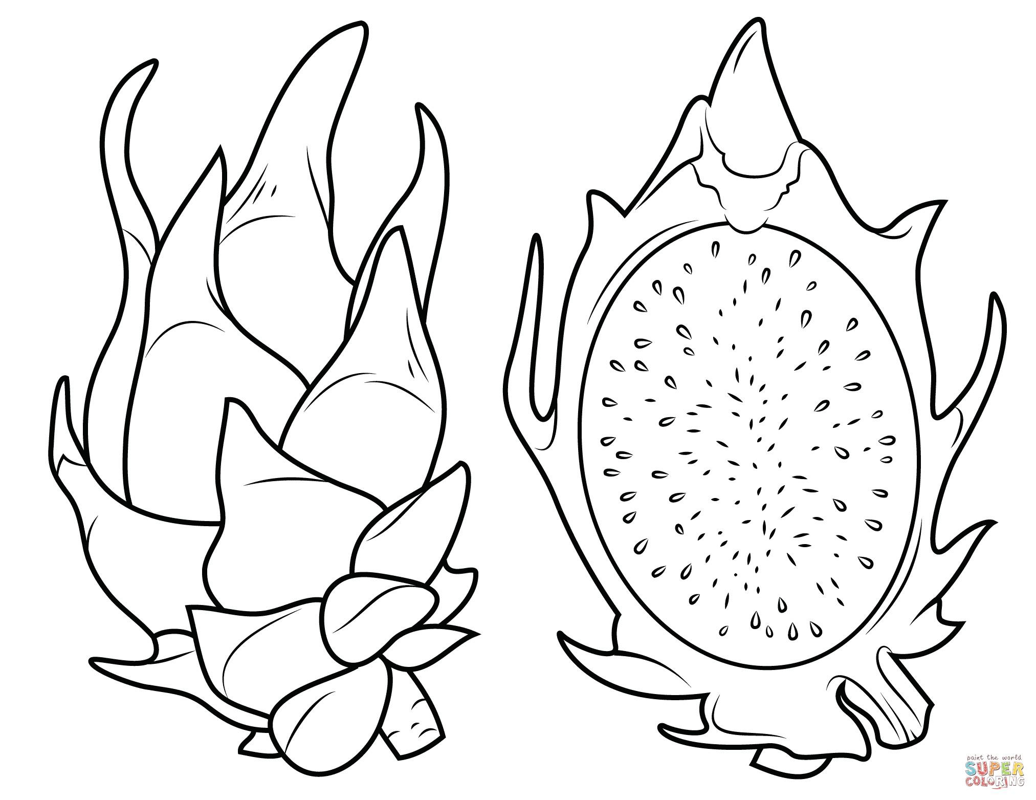 Avocado Coloring Page At Getcolorings