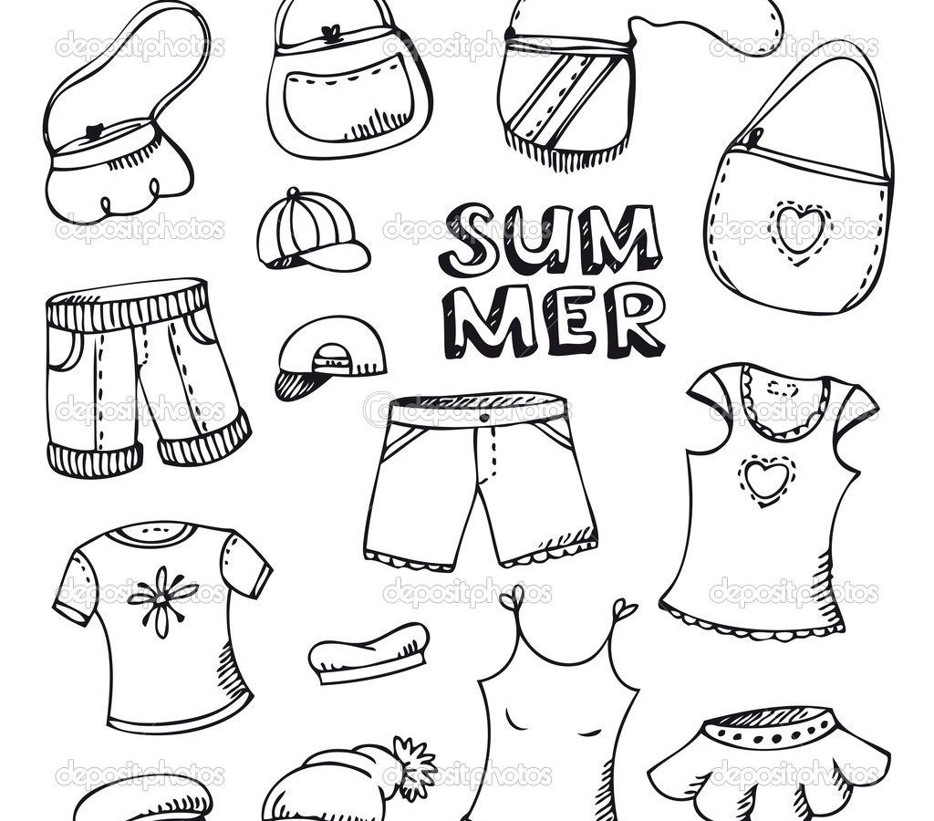 Baby Clothes Coloring Pages At Getcolorings