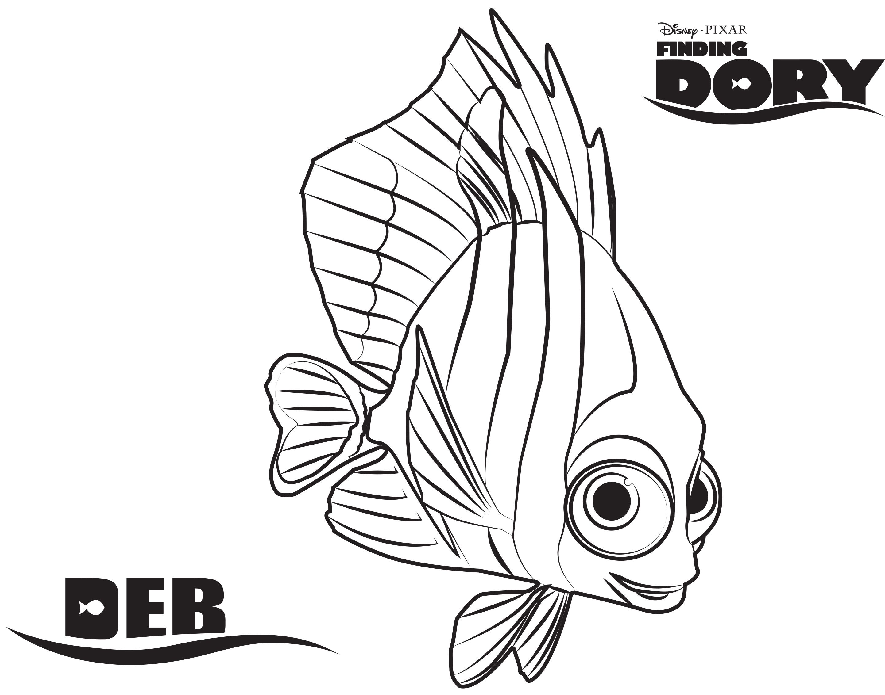 Baby Dory Coloring Pages At Getcolorings