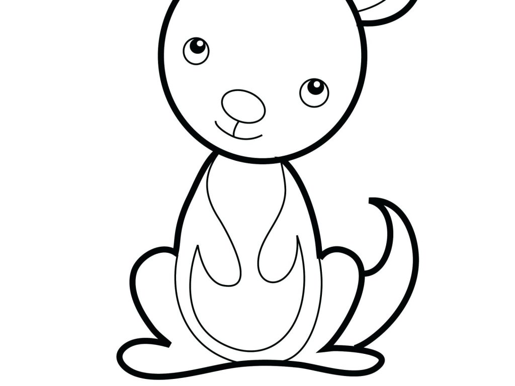 Baby Kangaroo Coloring Page At Getcolorings
