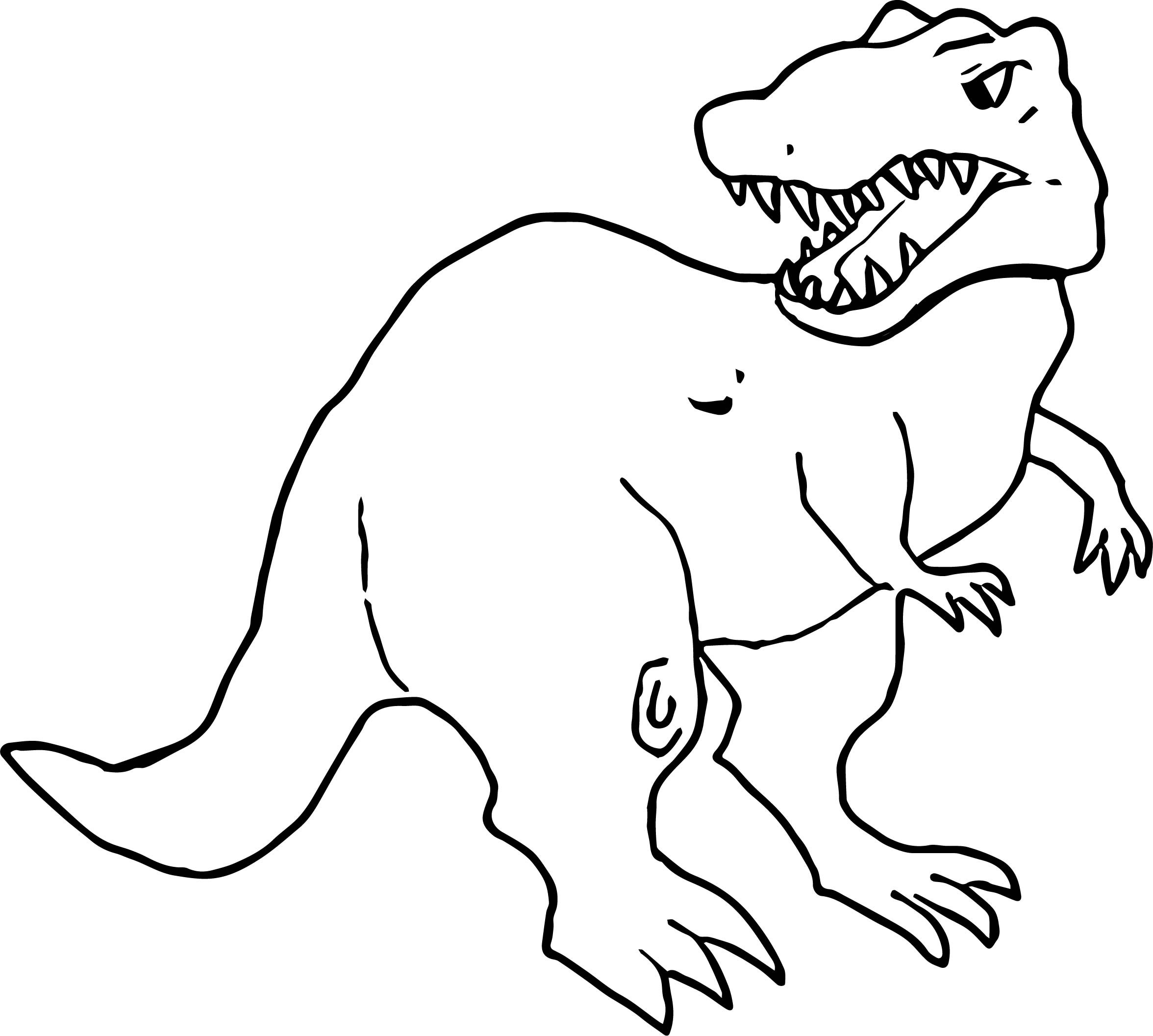 Baby T Rex Coloring Page At Getcolorings