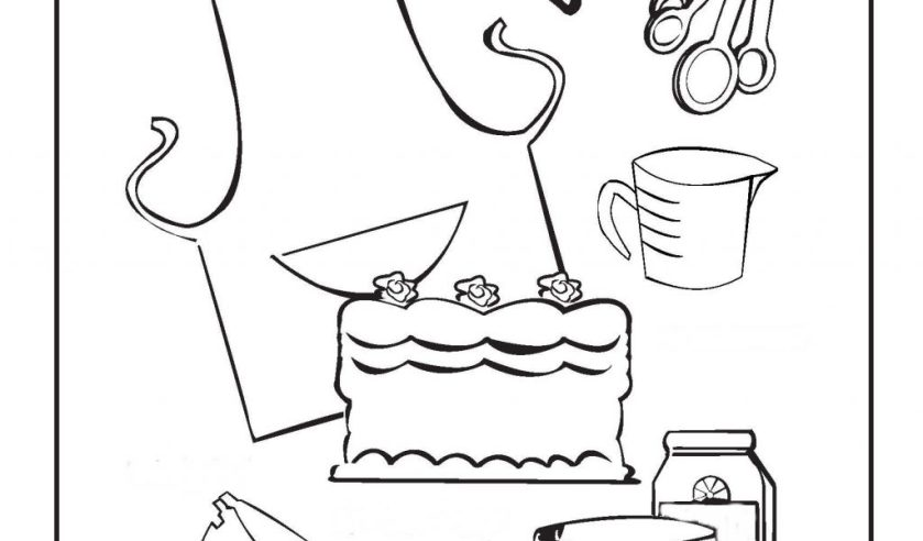 baking coloring pages at getcolorings  free printable