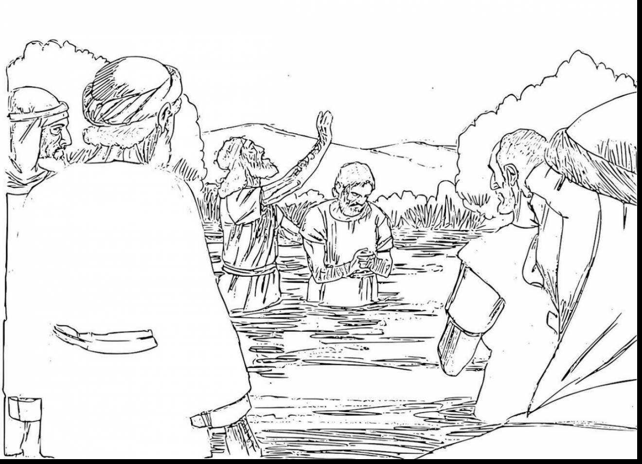 Baptism Coloring Pages Printables At Getcolorings