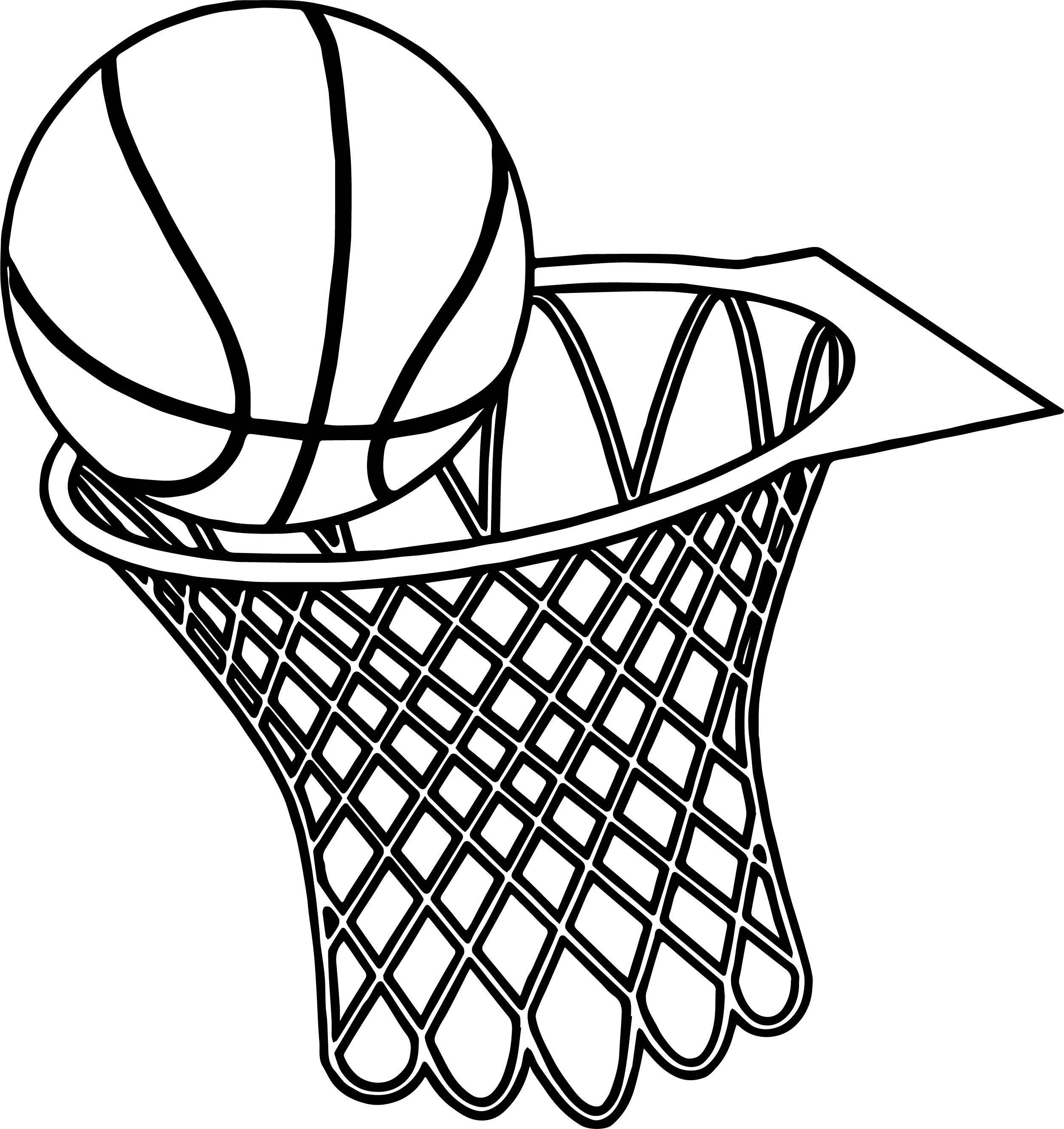 Basketball Goal Coloring Pages At Getcolorings