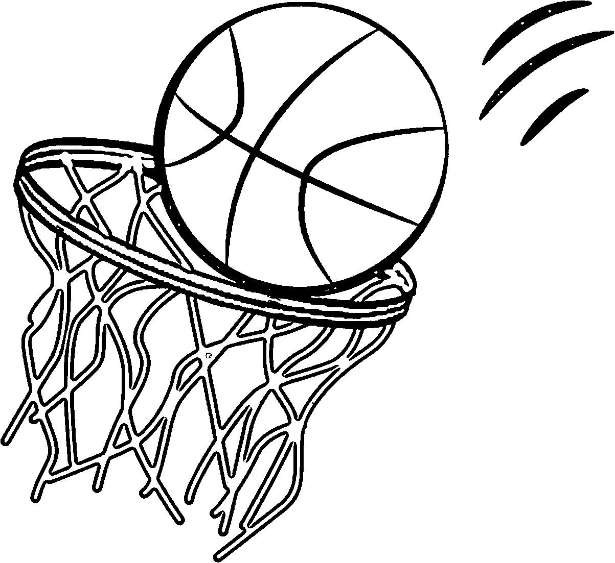 Basketball Hoop Coloring Page At Getcolorings
