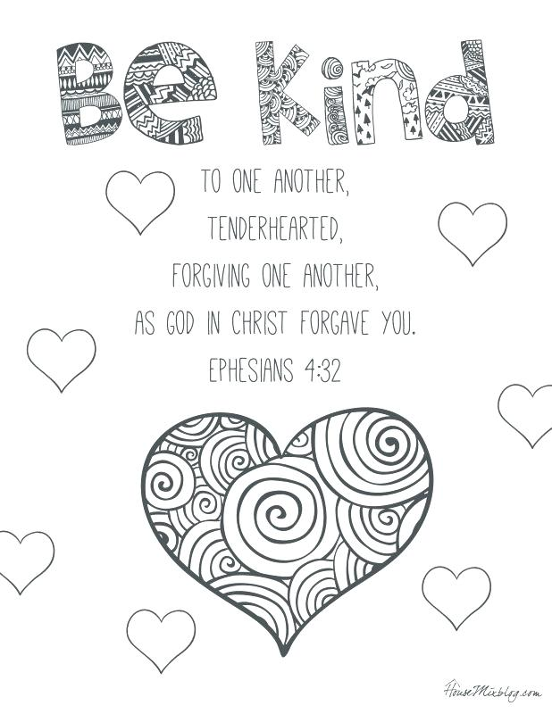 be kind coloring page at getcolorings  free printable