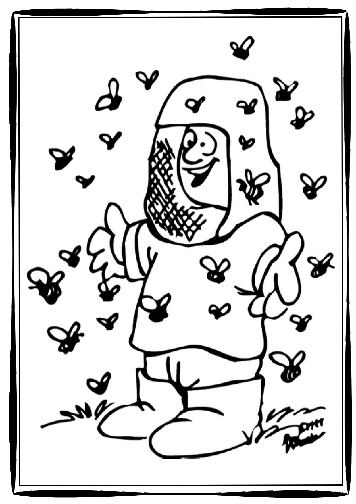 Beehive Coloring Page At Getcolorings