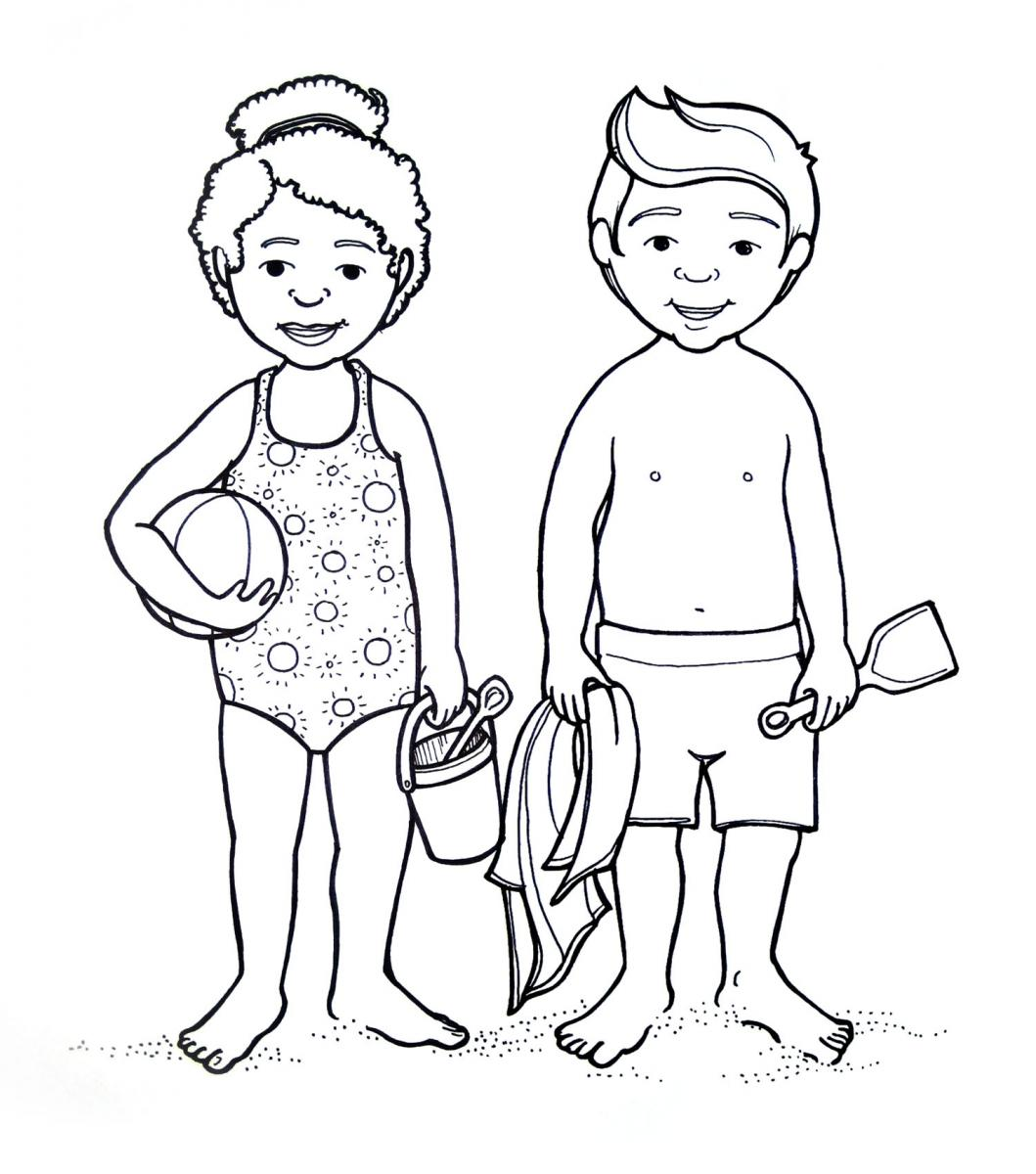 Bikini Coloring Pages At Getcolorings