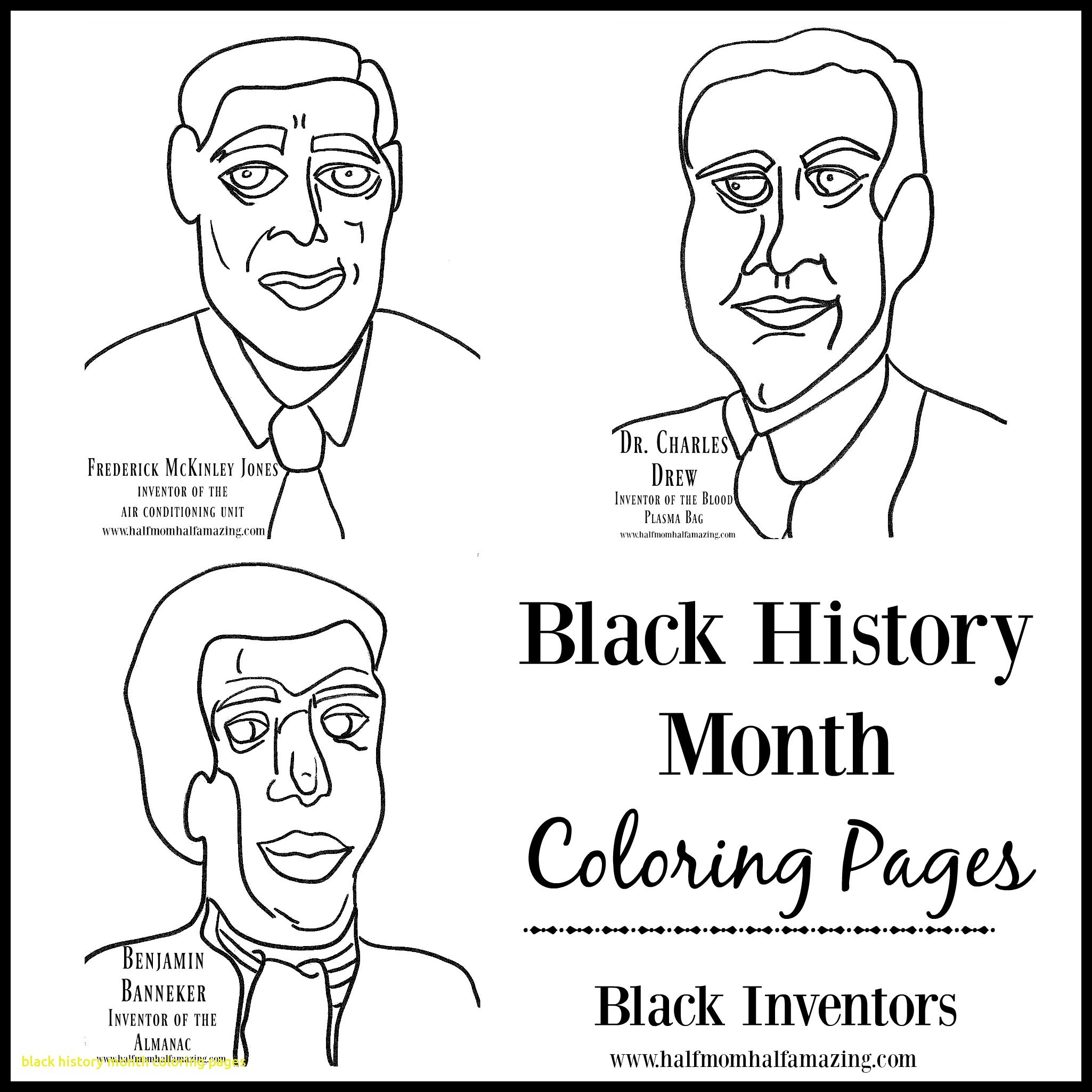 Black History Month Coloring Pages For Kindergarten At