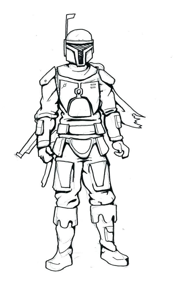 boba fett coloring page at getcolorings  free