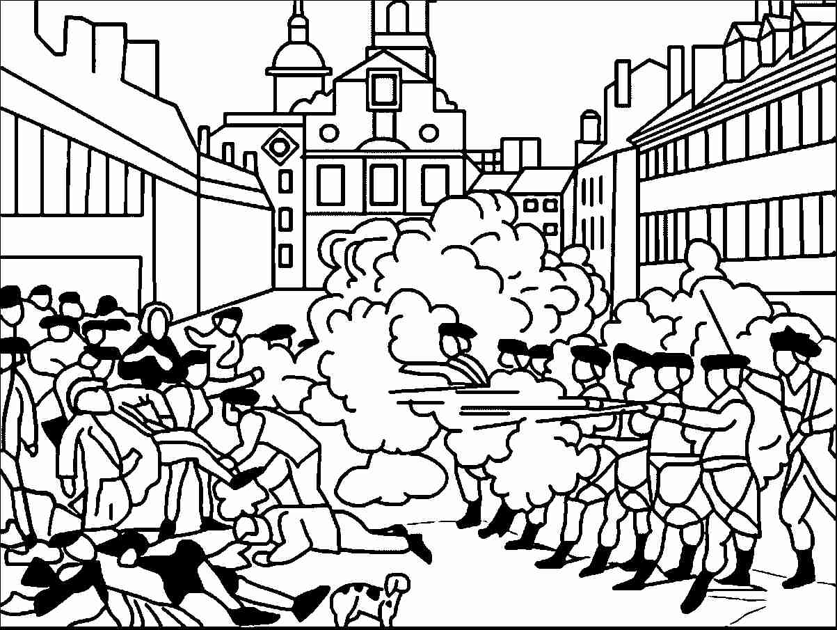 Boston Massacre Coloring Pages At Getcolorings