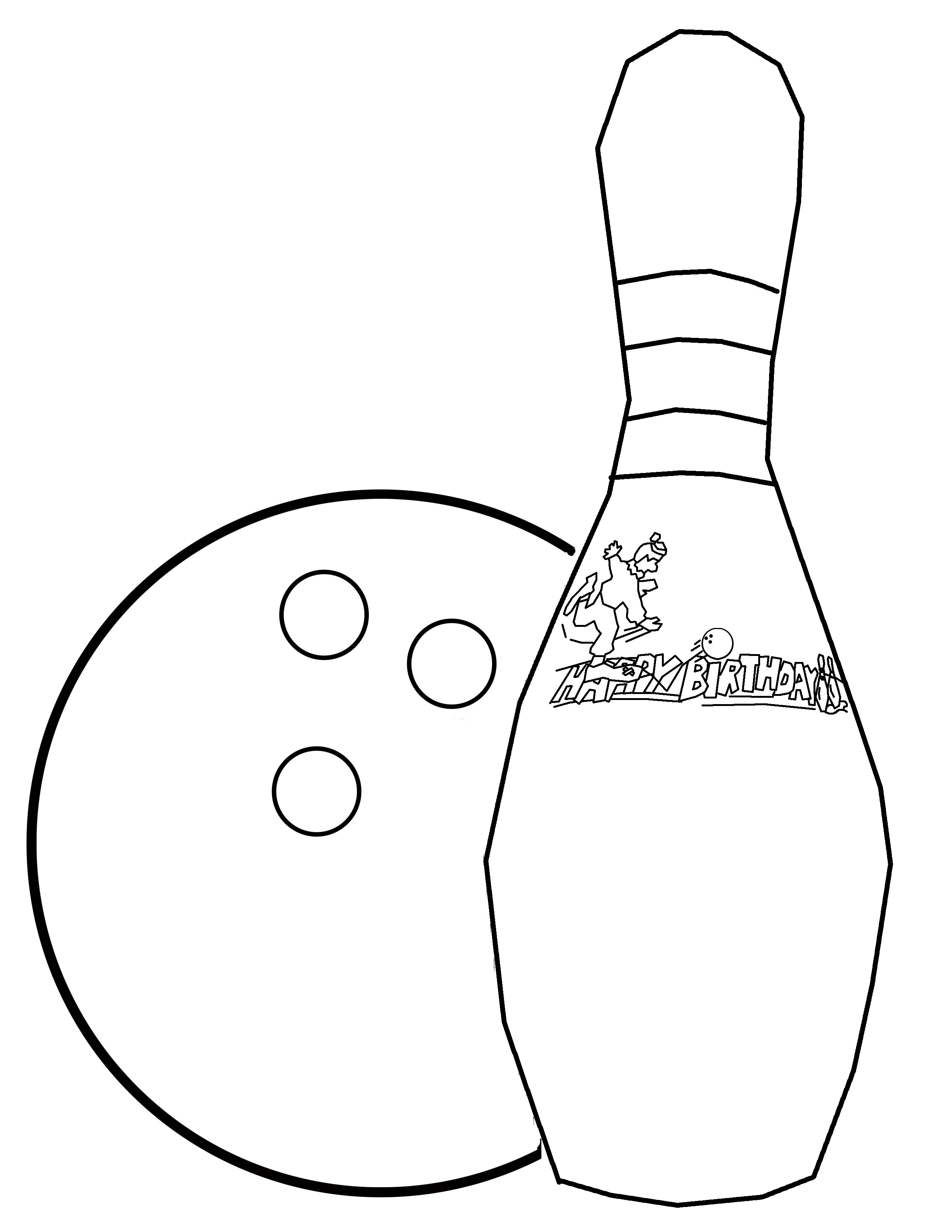 Bowling Ball Coloring Page At Getcolorings