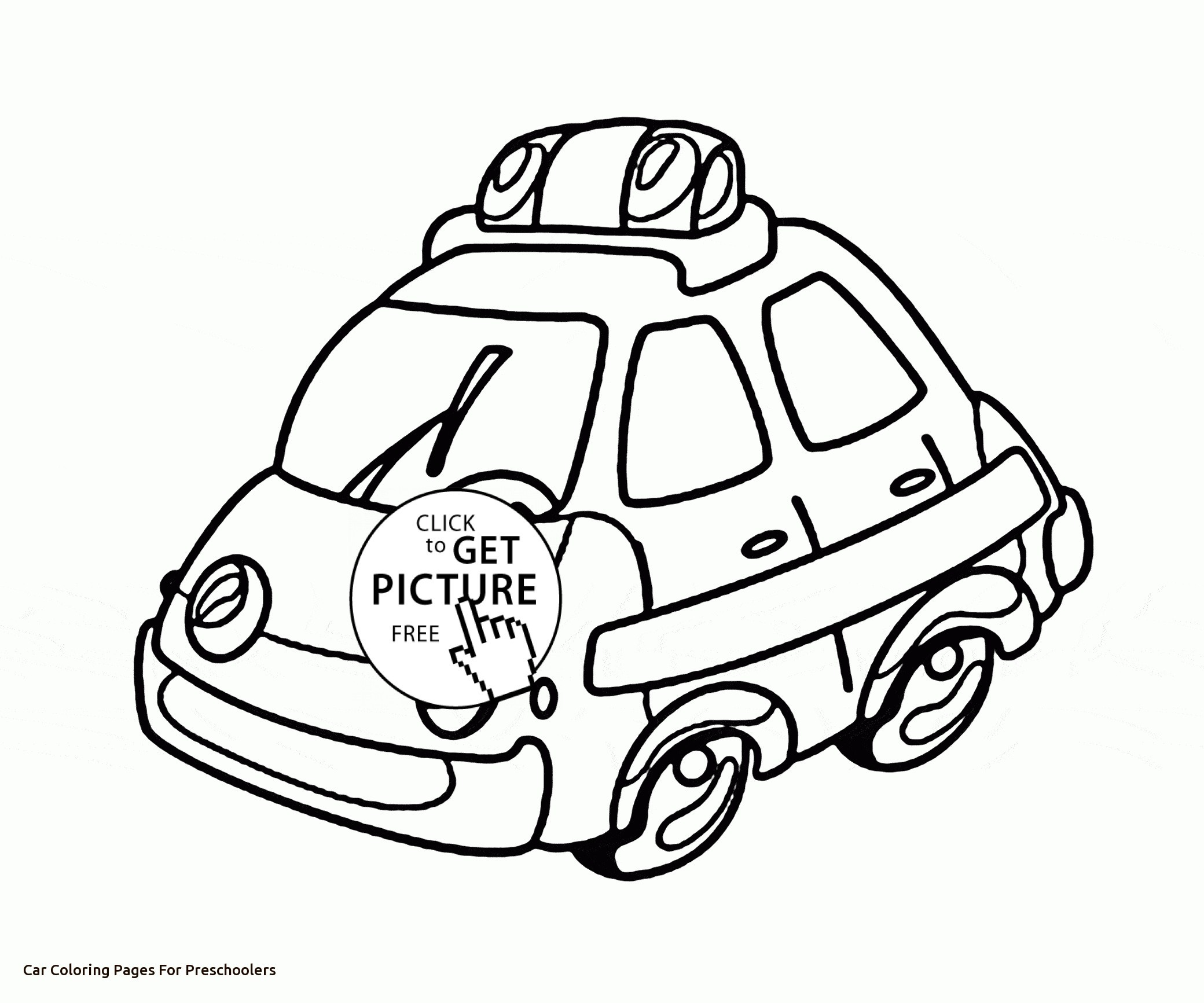 Car Coloring Pages For Preschoolers At Getcolorings