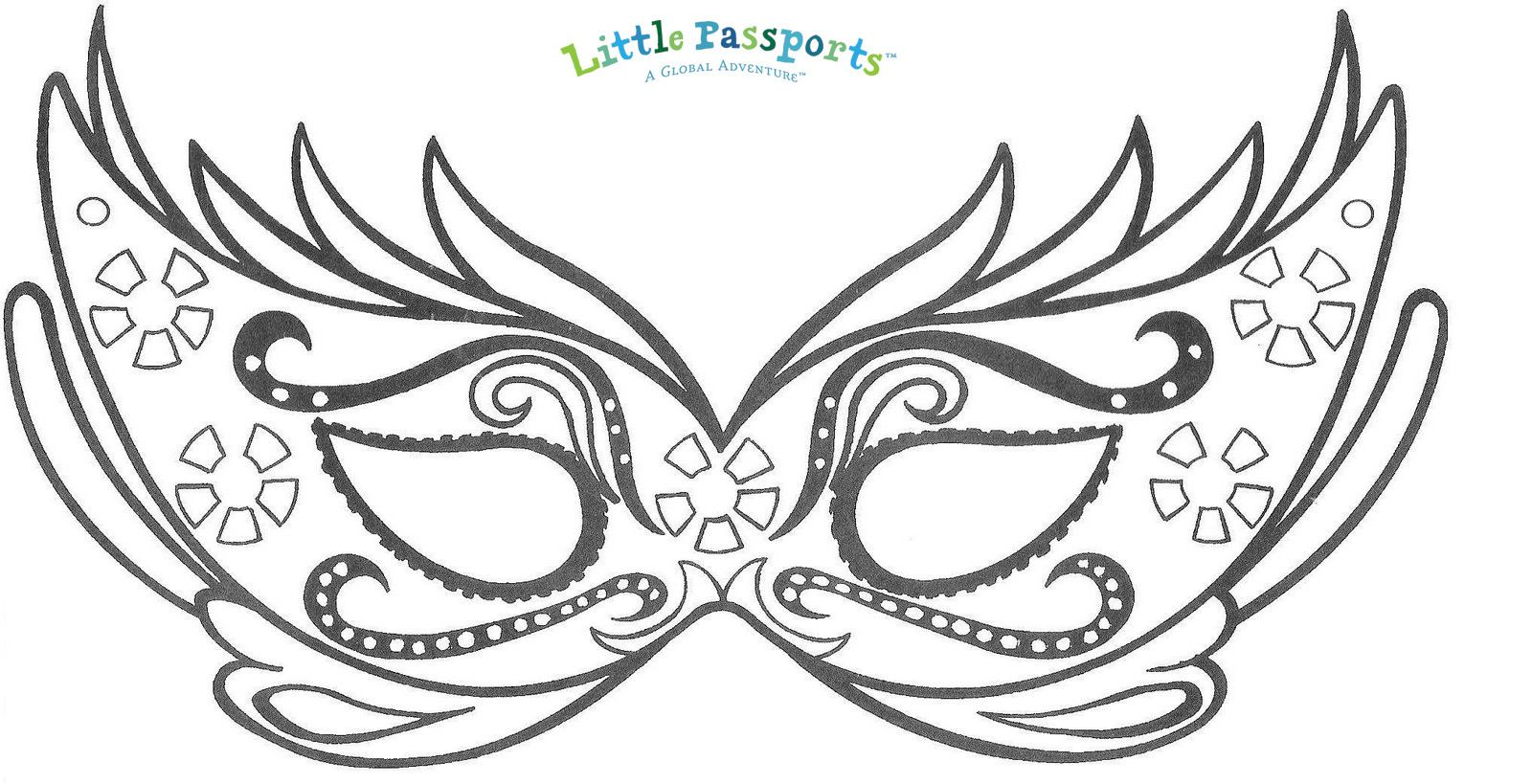 Carnival Mask Coloring Page At Getcolorings