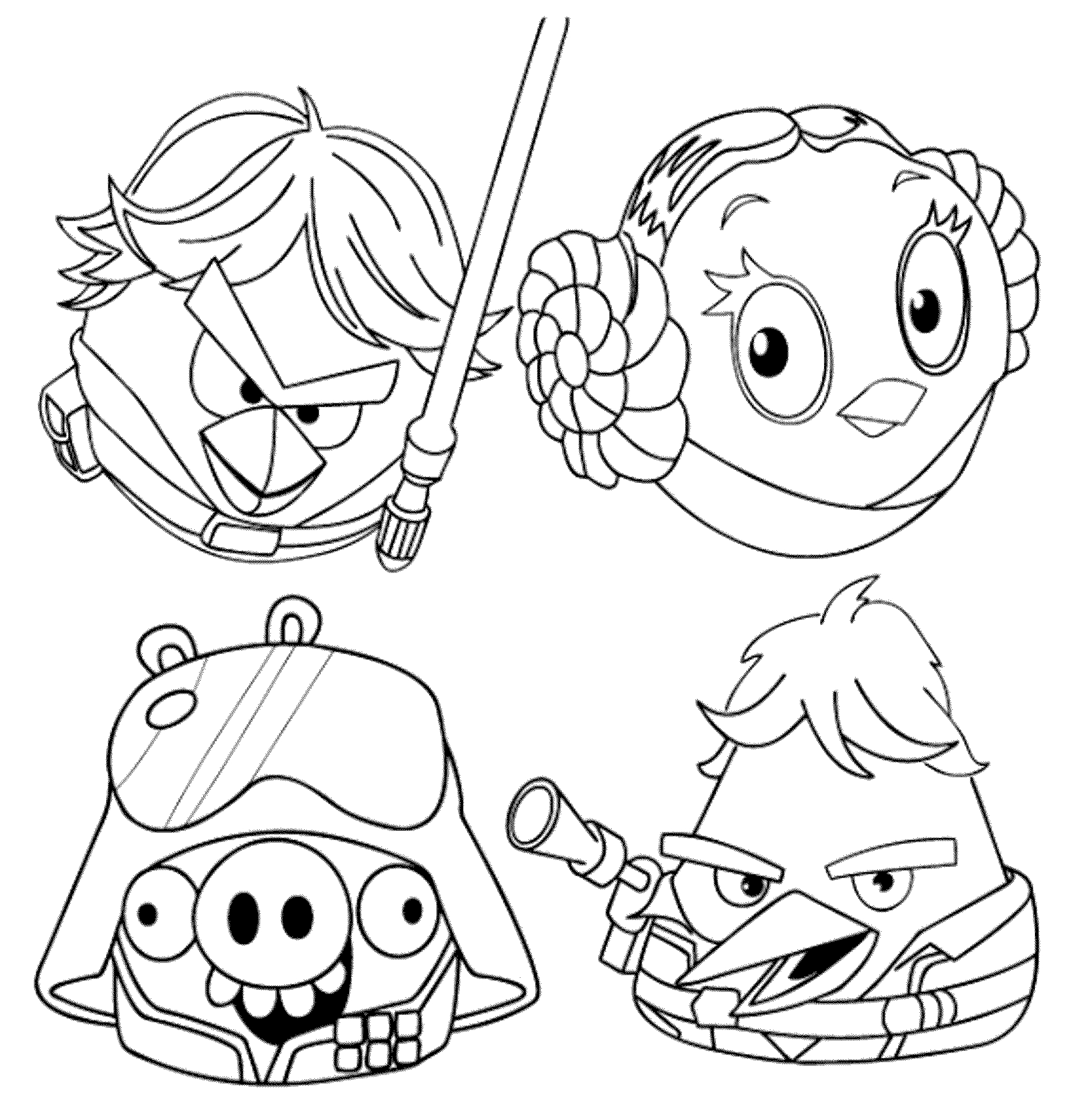 Cartoon Characters Coloring Pages Printable At