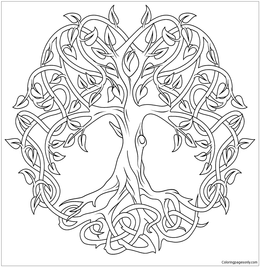 Celtic Tree Of Life Coloring Pages At Getcolorings
