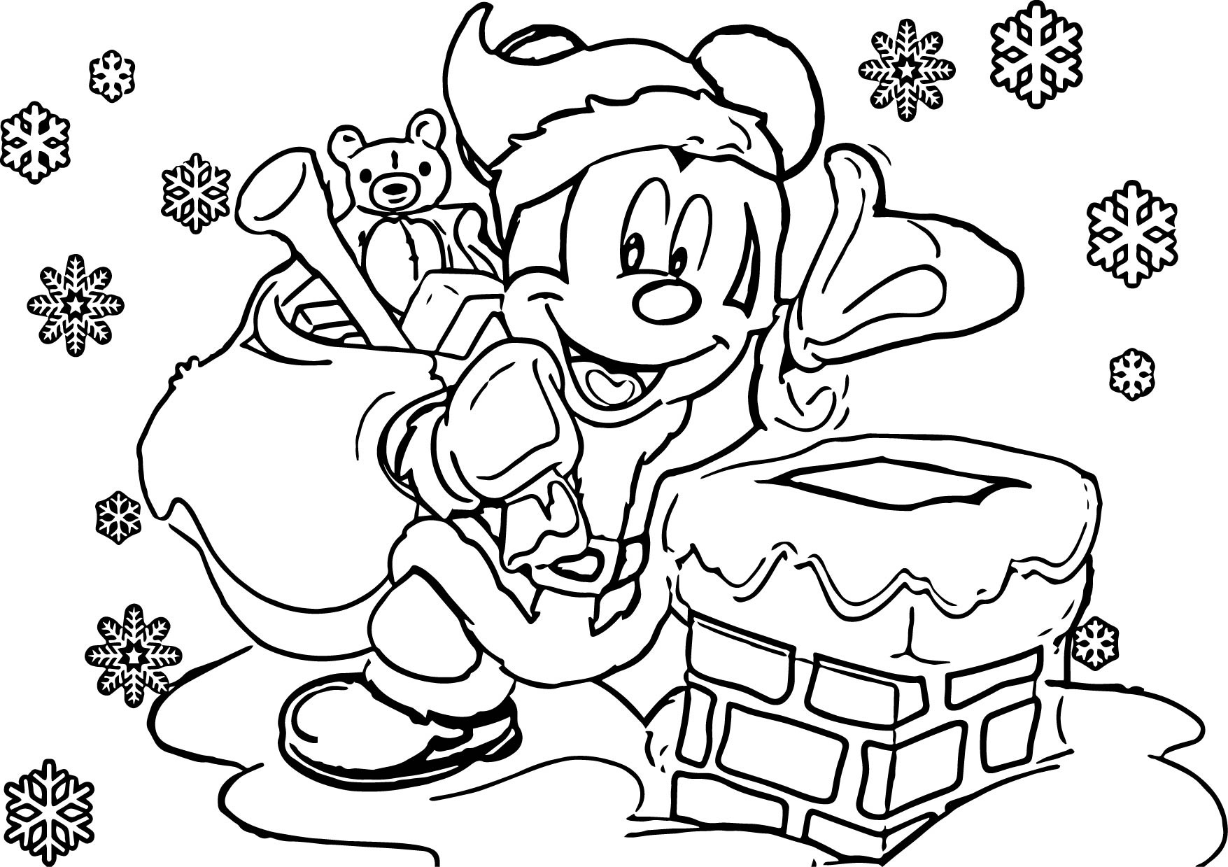 Christmas Cartoon Characters Coloring Pages At