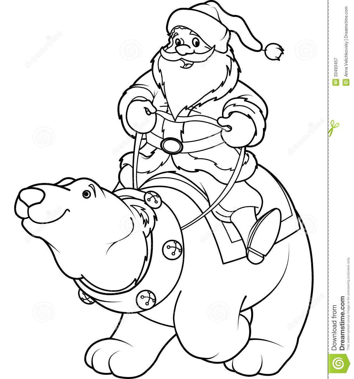 Christmas Polar Bear Coloring Pages At Getcolorings