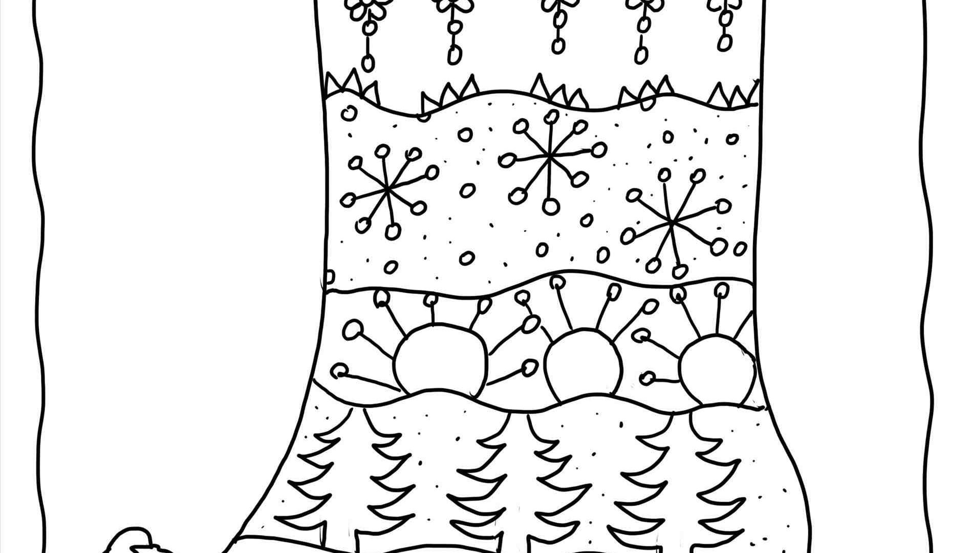 Christmas Stocking Coloring Pages For Kids At Getcolorings