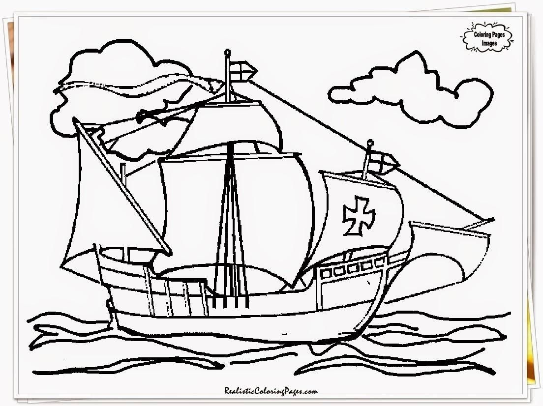 Christopher Columbus Ships Coloring Pages At Getcolorings