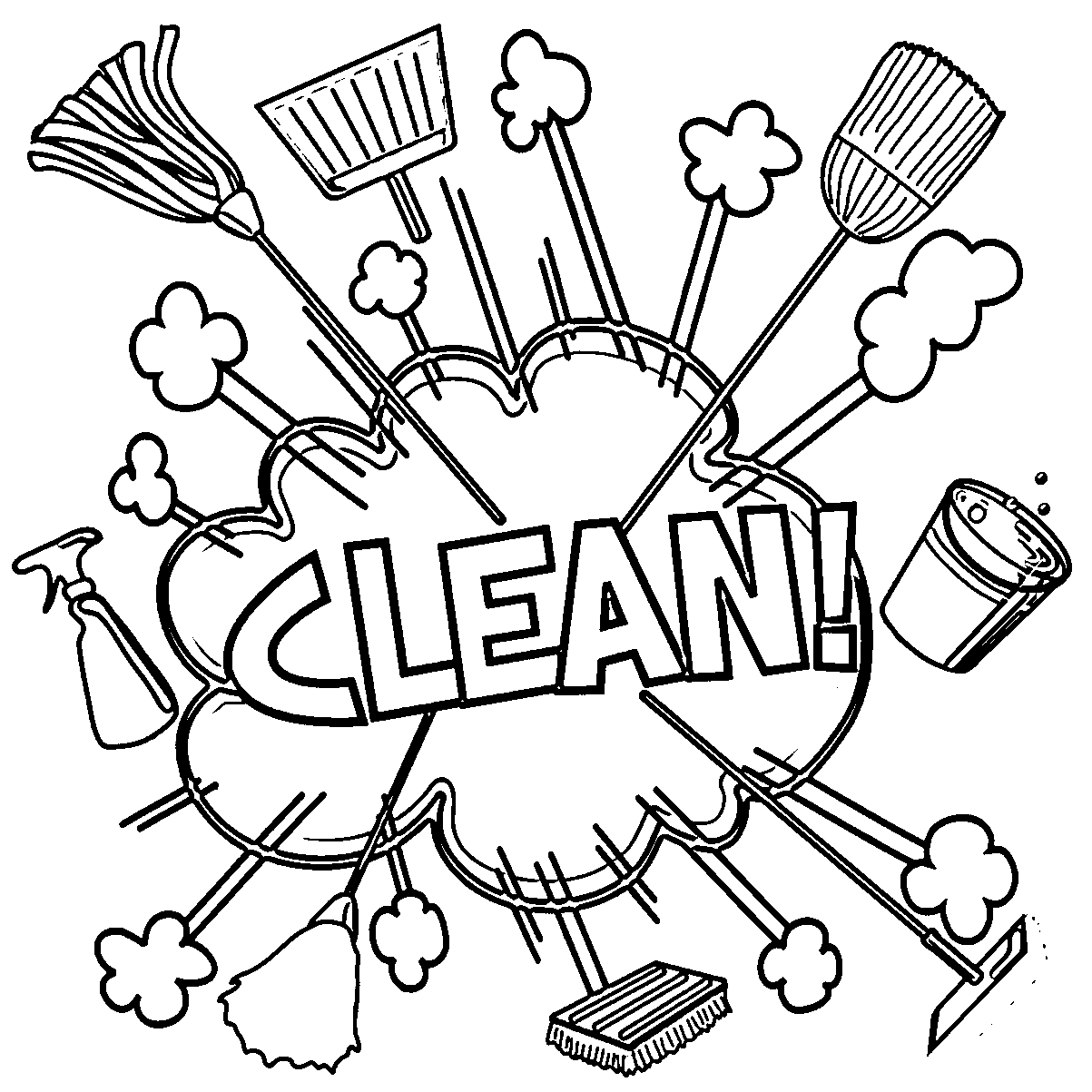 Cleaning Coloring Pages At Getcolorings