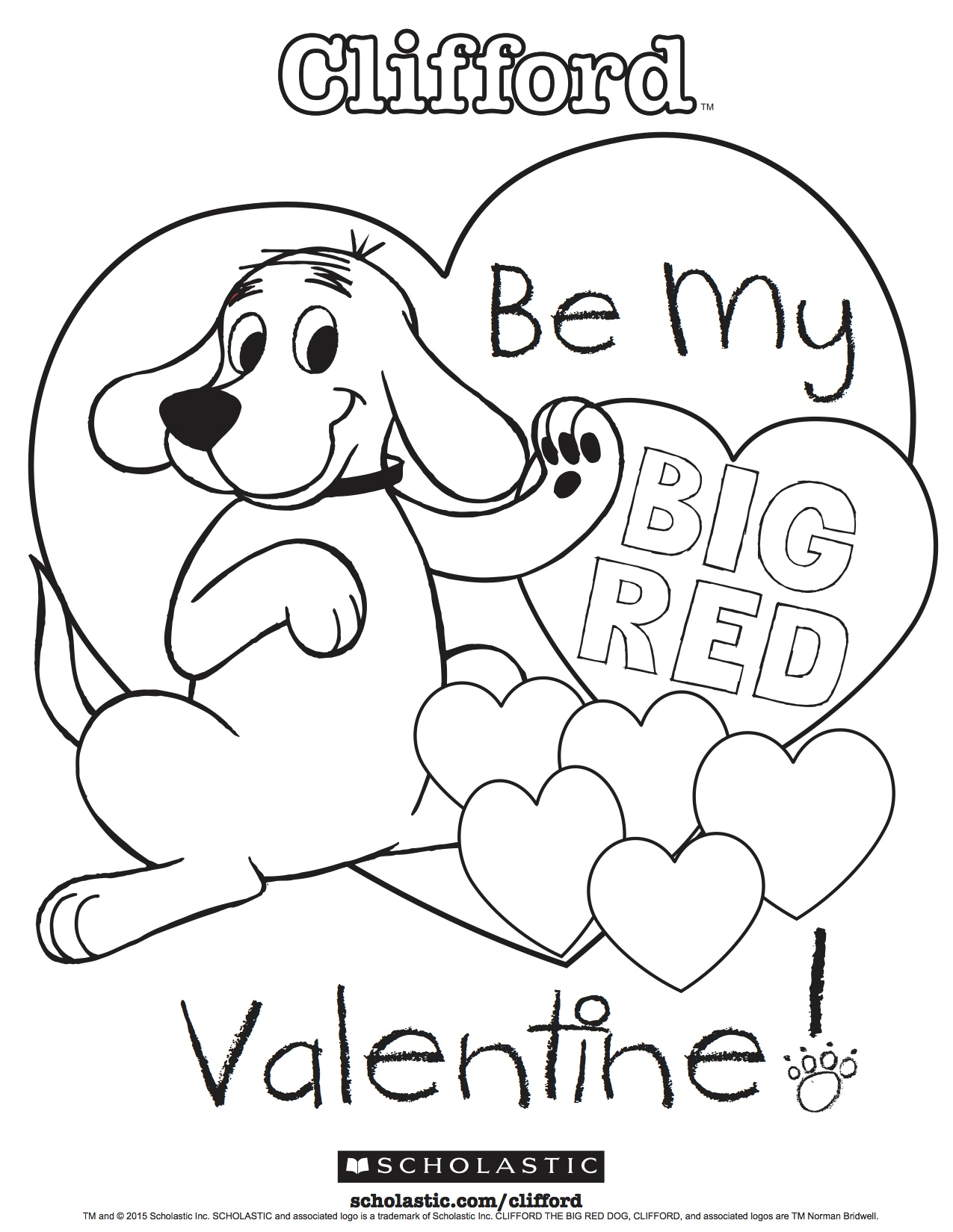 Clifford The Big Red Dog Coloring Pages At Getcolorings