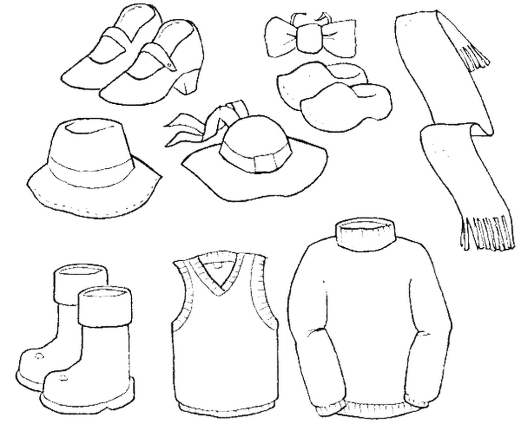 Clothes Coloring Pages At Getcolorings