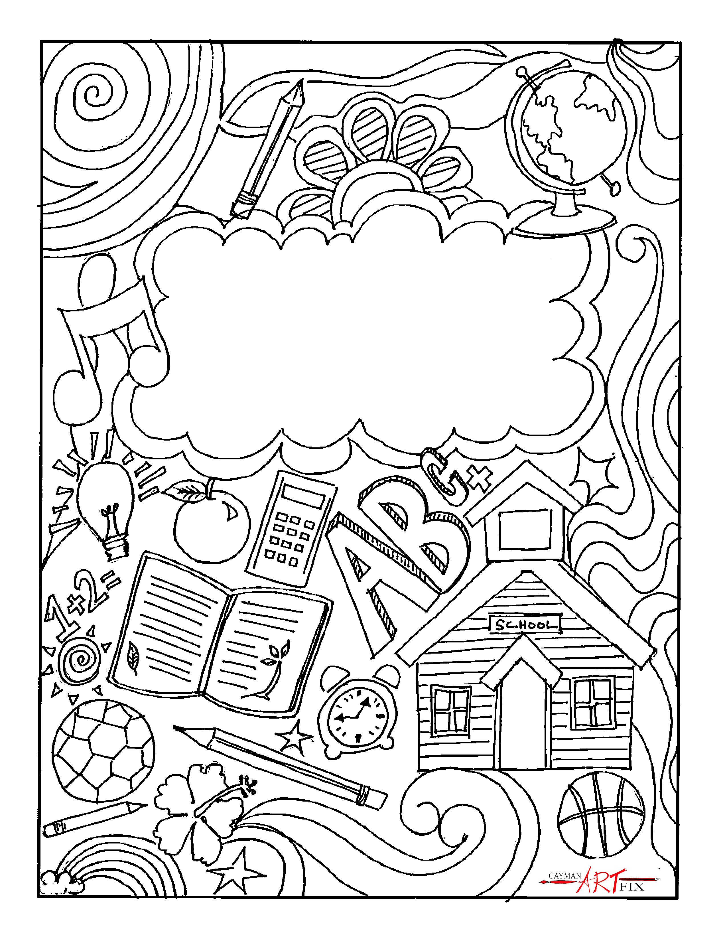Coloring Book Cover Page At Getcolorings
