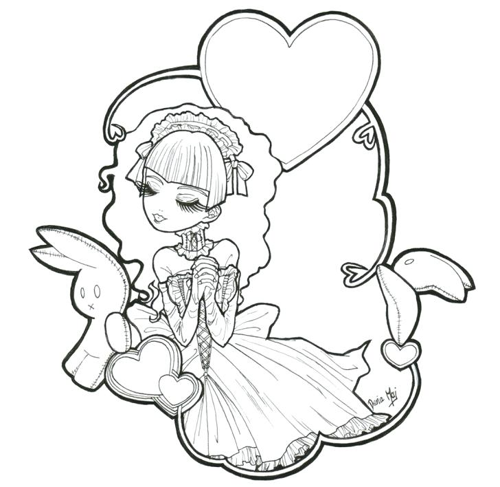 coloring pages gothic fairies at getcolorings  free