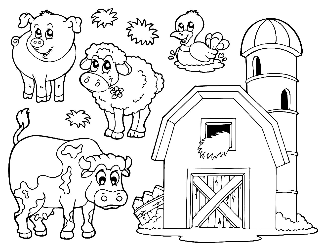Coloring Pages Of Farm Animals For Preschoolers At