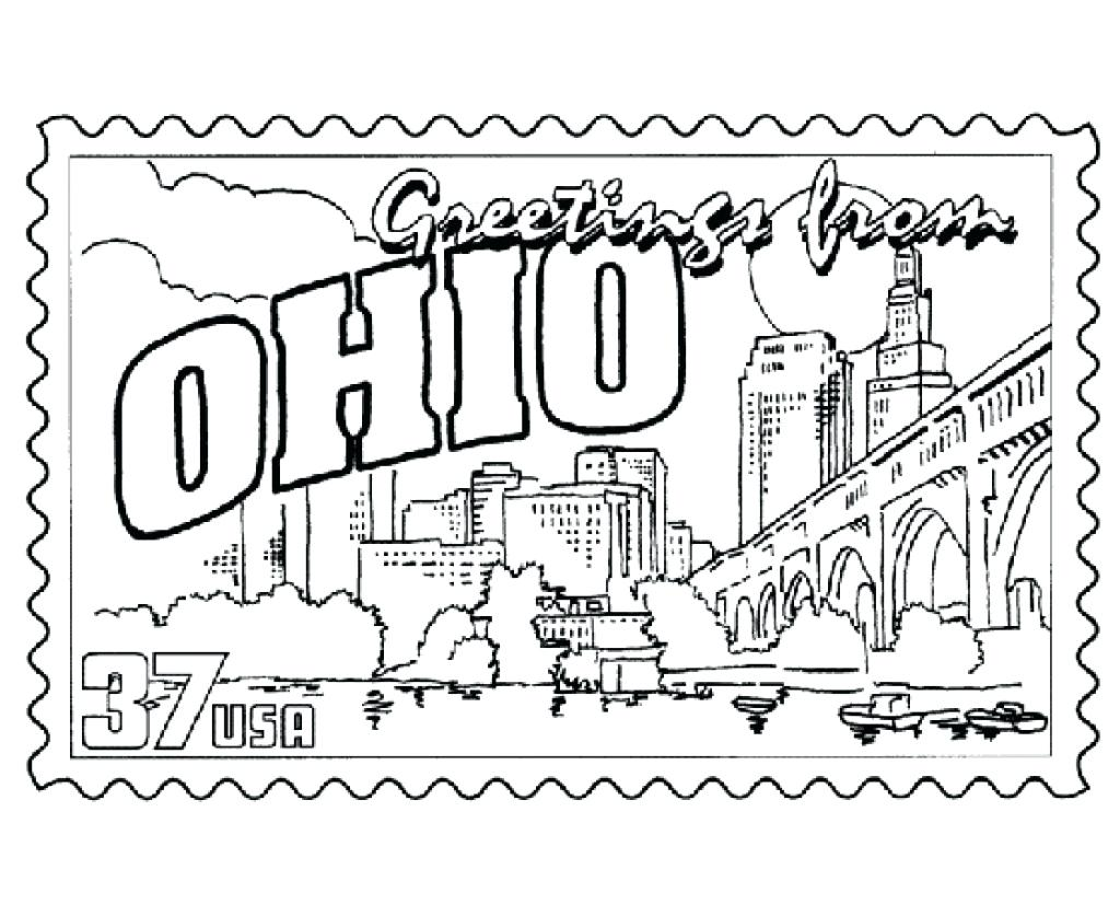 Ohio State Coloring Pages At Getcolorings