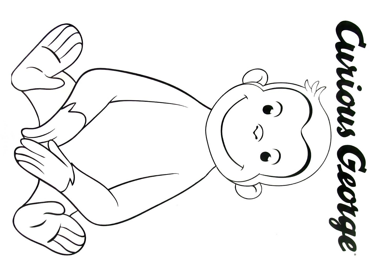 Curious George Face Coloring Pages At Getcolorings